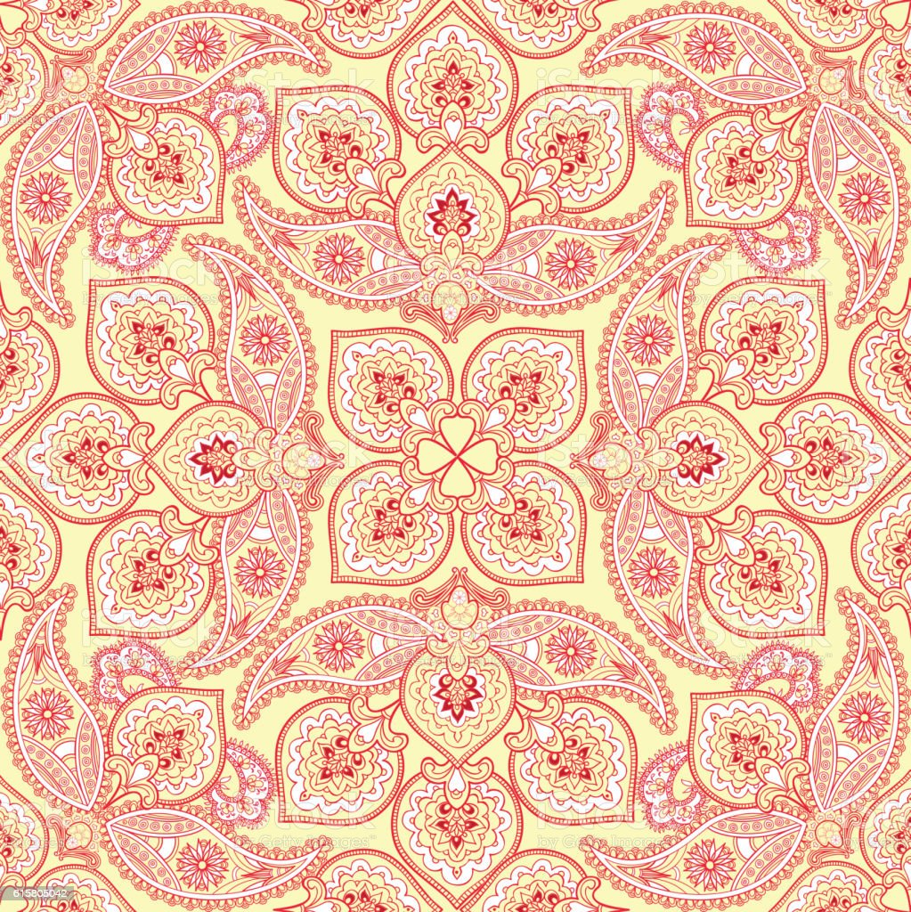 Flourish Tile Pattern Floral Arabic Background Indian Fabric ... for Indian Fabric Designs Patterns  67qdu