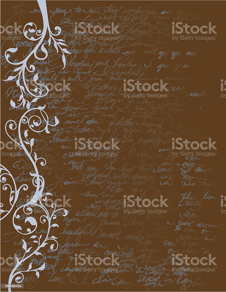 Flourishes and Writings background royalty-free flourishes and writings background stock vector art & more images of abstract