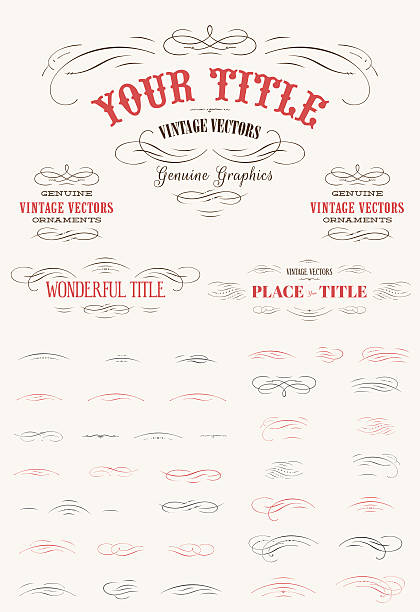 Flourishes Vintage Vector Kit Use these Decorative Vintage labels, or create your own! 1900 stock illustrations