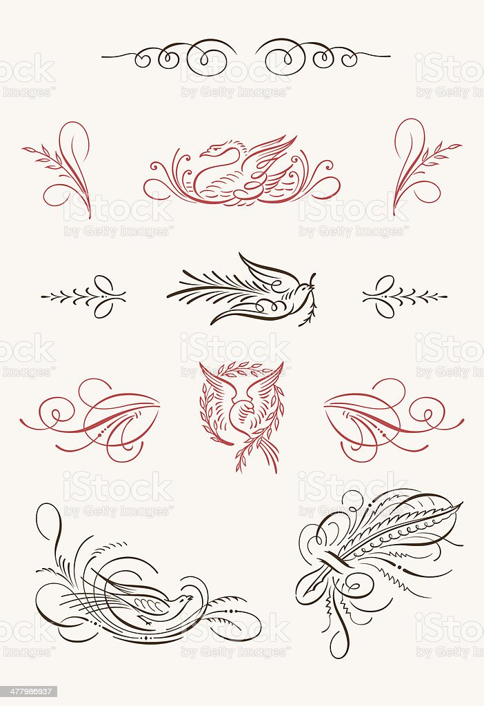 Flourishes Vintage Vector Kit royalty-free stock vector art
