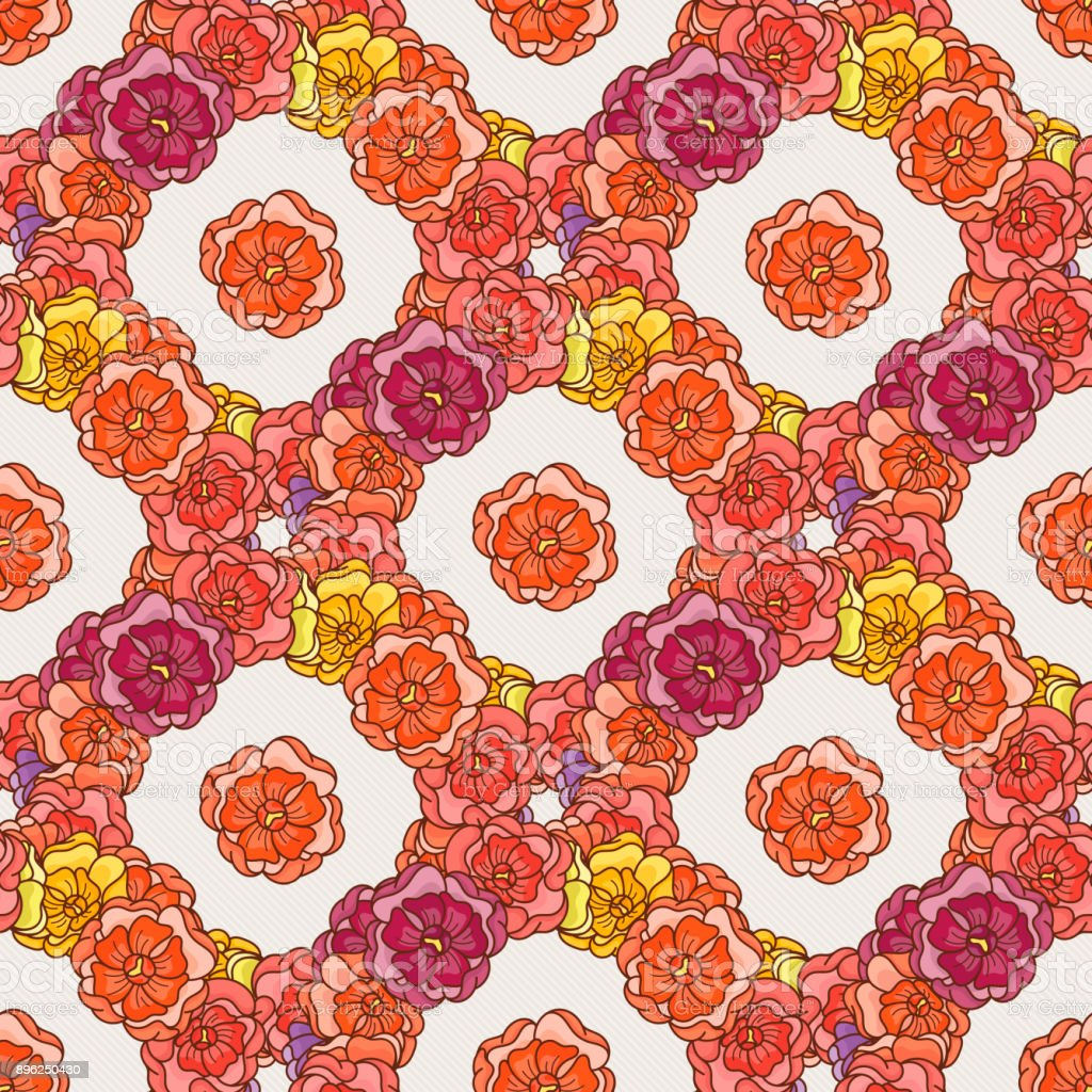 Flover Wallpaper In The Style Of Art Nouveau Stock Illustration