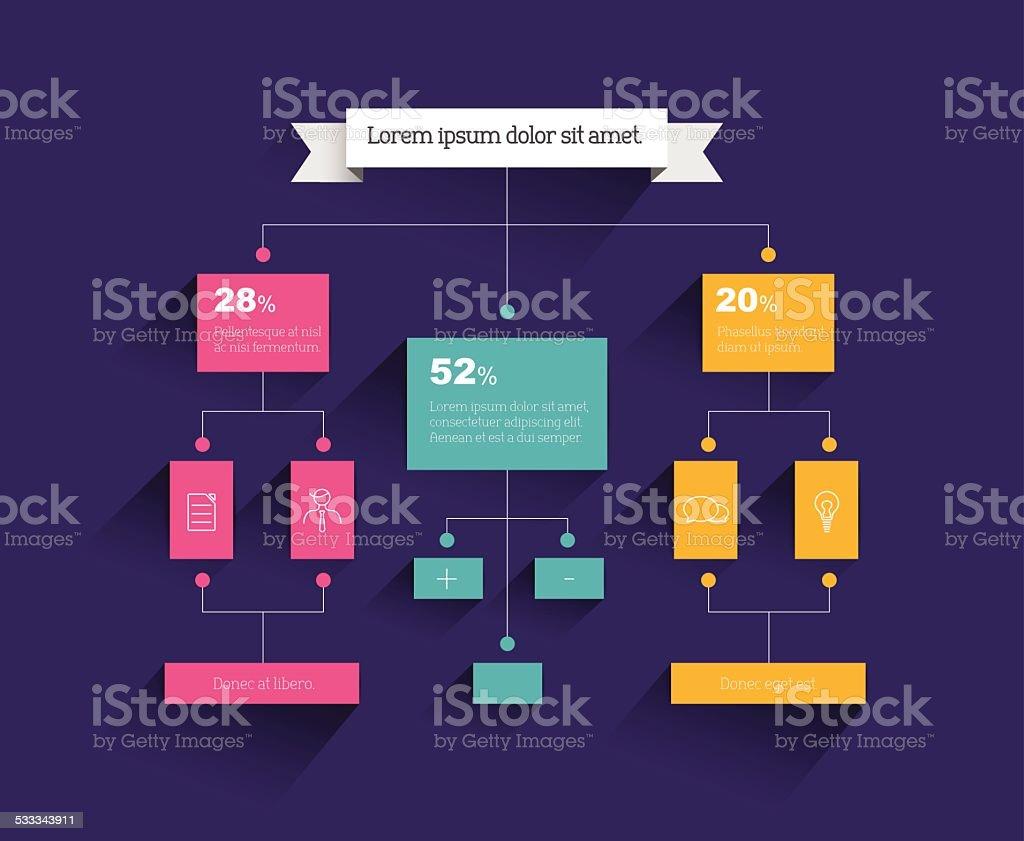 Flow chart. Infographic element. Vector flat design. vector art illustration