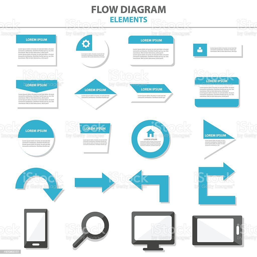 Flow Diagram Advice Tool Infographic Element For Business Working