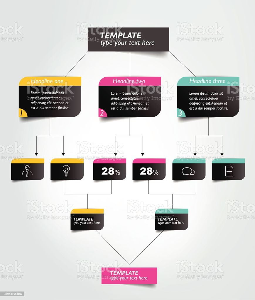 Flowchart diagram, scheme. Infographic element. vector art illustration