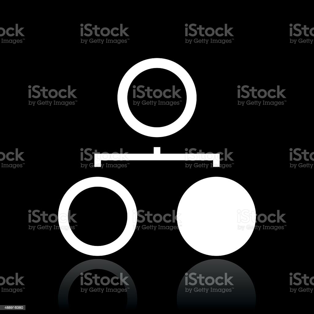 Flowchart icon on a black background. royalty-free flowchart icon on a black background stock vector art & more images of 2015