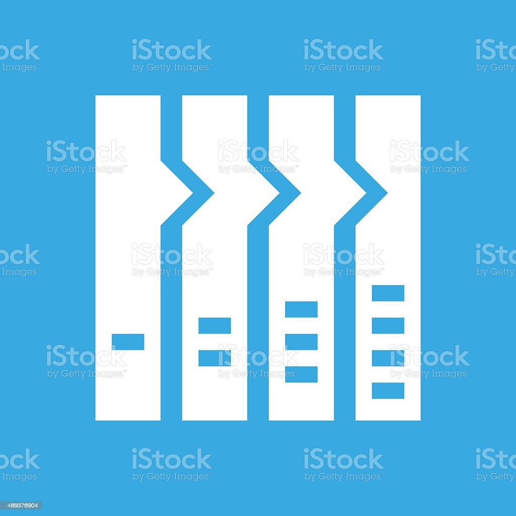 Flowchart icon on a blue background. - Smooth Series royalty-free flowchart icon on a blue background smooth series stock vector art & more images of 2015