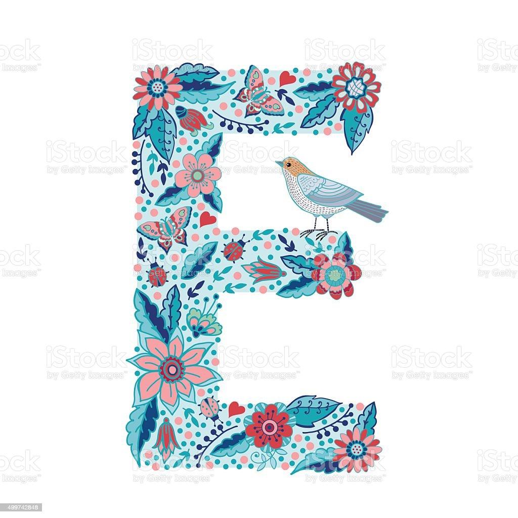 flower alphabet letter e stock vector art   more images of newspaper victoria tx newspaper victorville
