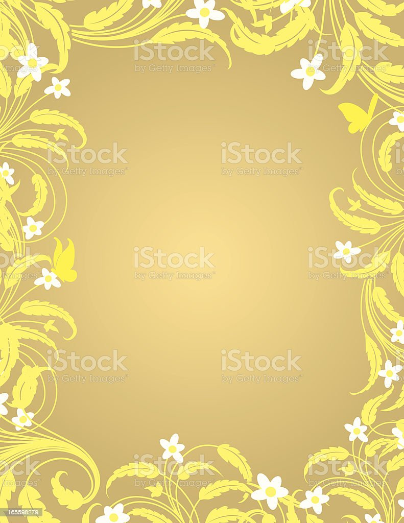 Flower and Butterfly Frame royalty-free flower and butterfly frame stock vector art & more images of at the edge of
