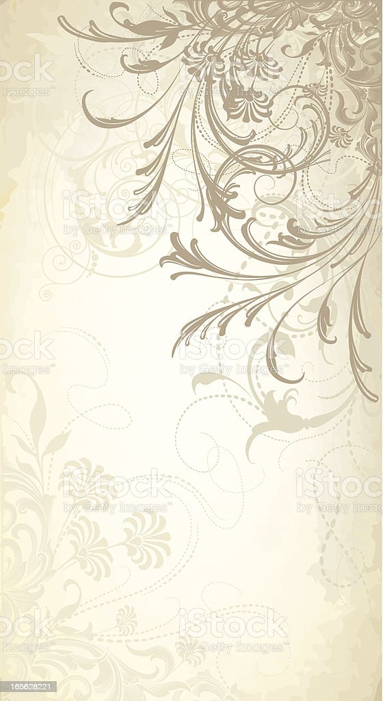 Flower and Scroll Banner scrollwork background royalty-free stock vector art