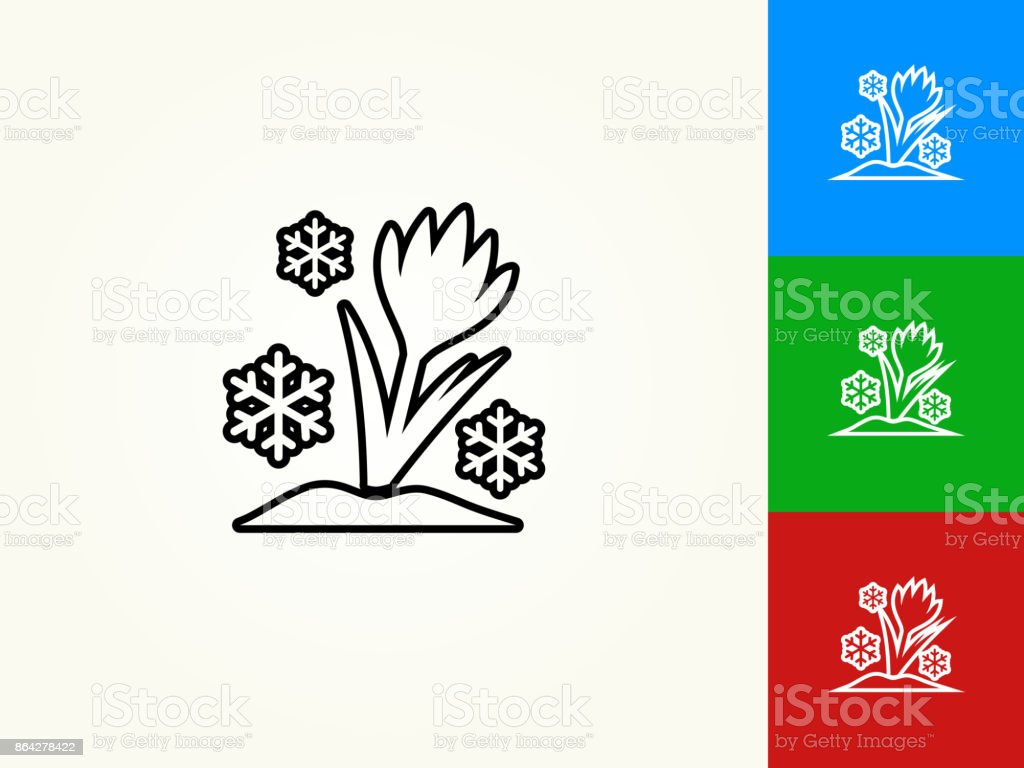 Flower and Snowflake Black Stroke Linear Icon royalty-free flower and snowflake black stroke linear icon stock vector art & more images of black color