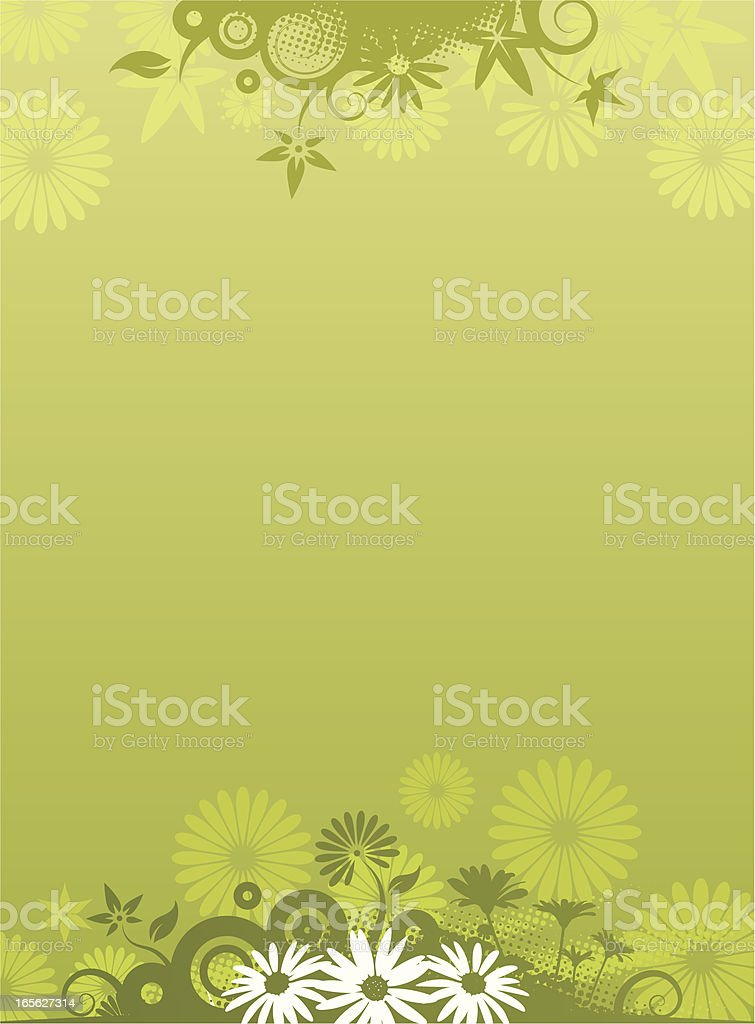 Flower background green royalty-free stock vector art