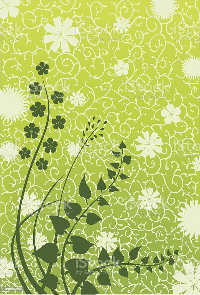 flower background pattern vector art illustration