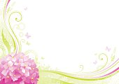 Flower background with beautiful swirls, butterflies and copyspace. EPS-8 (no transparent elements), AI-CS5, CDR-11, big resolution JPG.