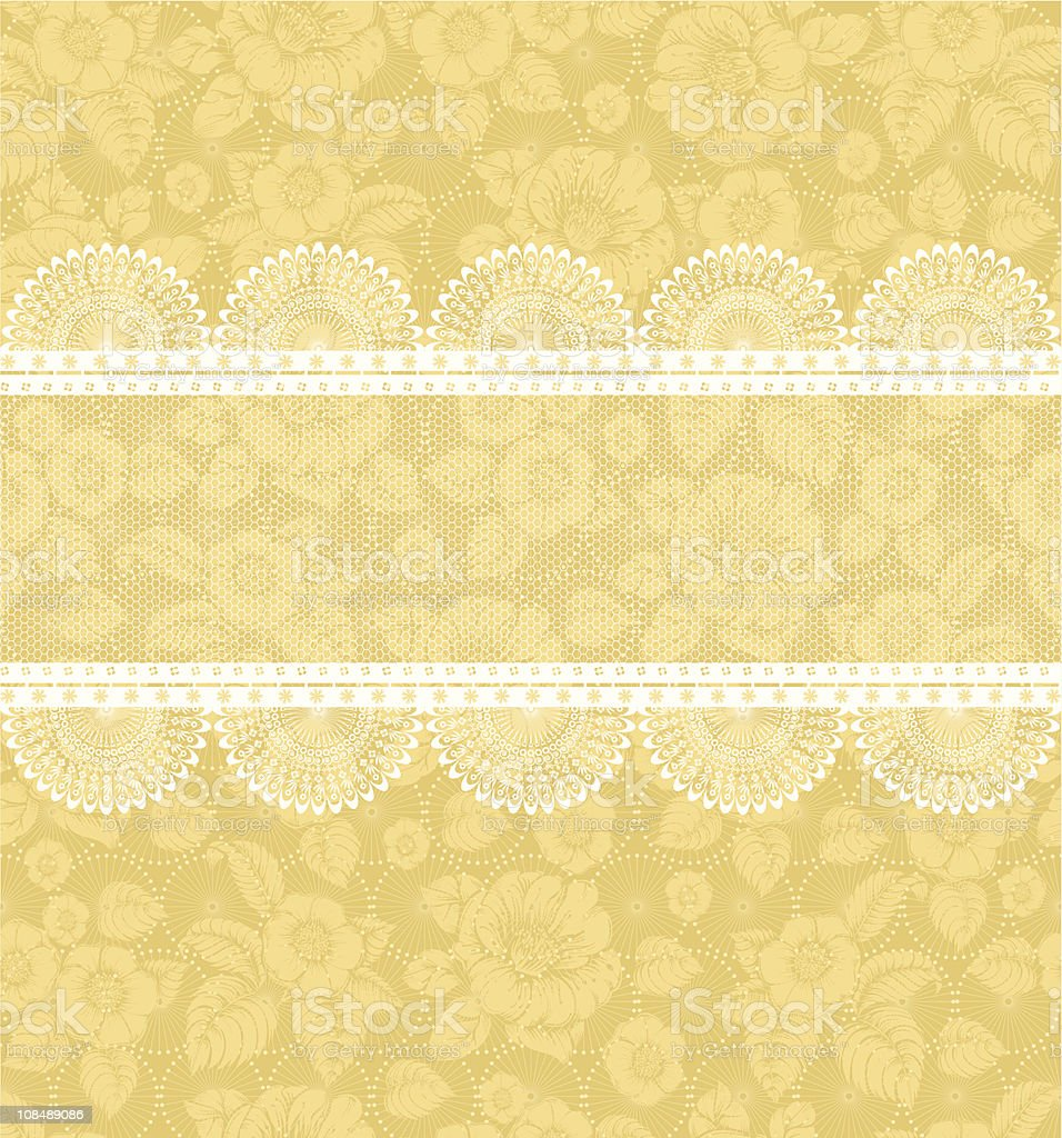 Flower background with lace royalty-free stock vector art