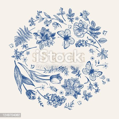 istock Flower ball. Vector illustration. Blue. 1249704062