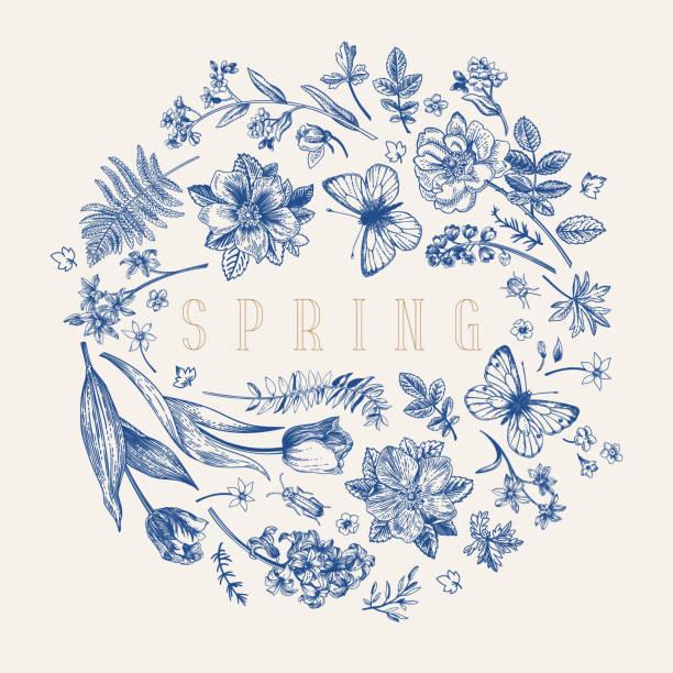 Flower ball. Vector illustration. Blue. vector art illustration
