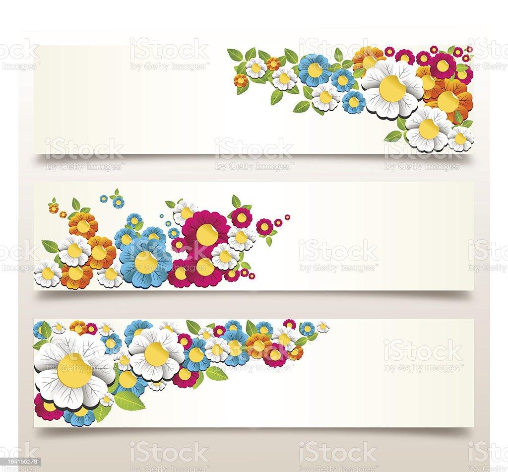Flower banner set royalty-free stock vector art
