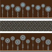 A collection of funky mandala flower banners. Swatch for centre design is included for easy seamless backgrounds... (Includes .jpg)