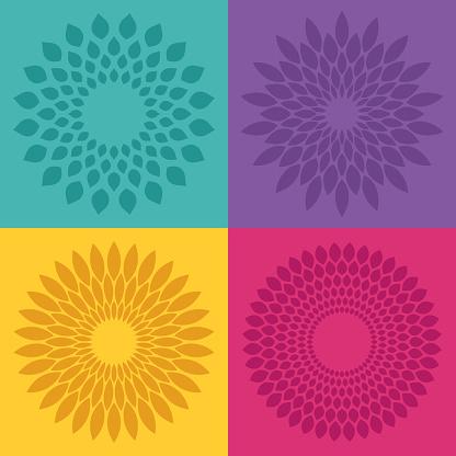 Flower Bloom Radial Patterns