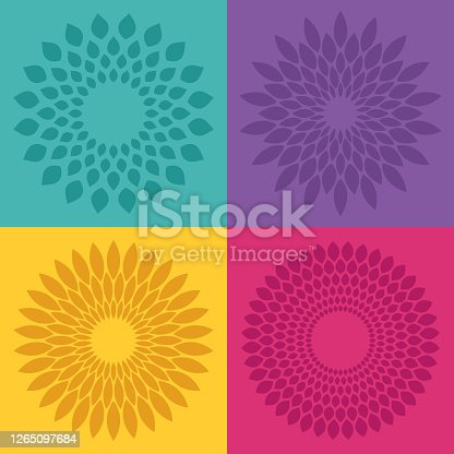 Flower bloom radial pattern designs.