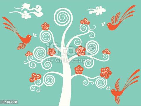 istock Flower Blossom & Birds 97403338