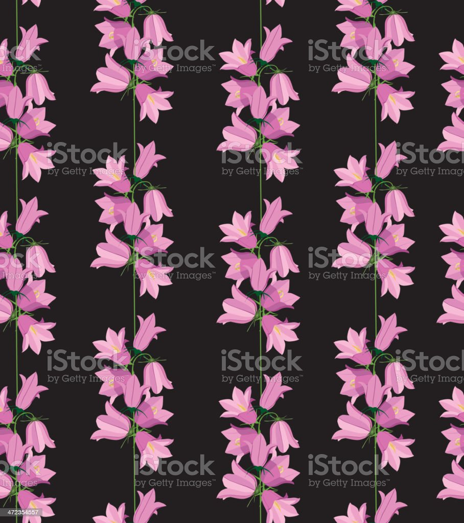 Flower bluebell background. Floral seamless pattern. royalty-free stock vector art