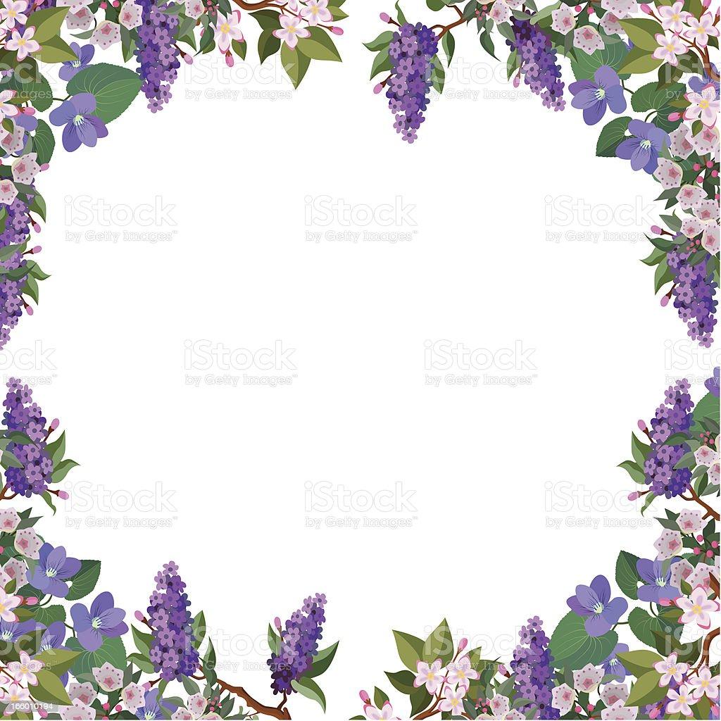flower border frame royalty-free stock vector art