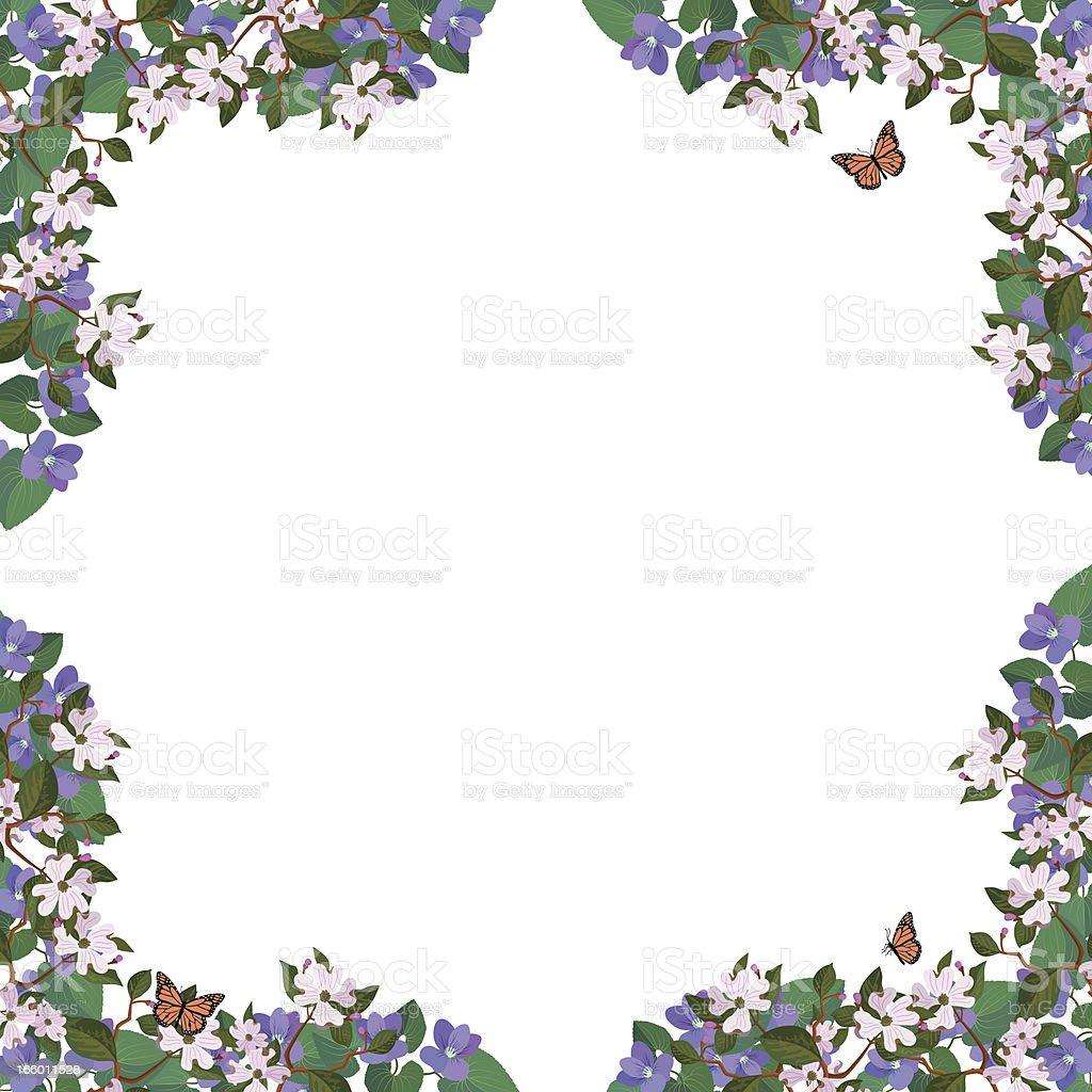 flower border frame royalty-free flower border frame stock vector art & more images of backgrounds