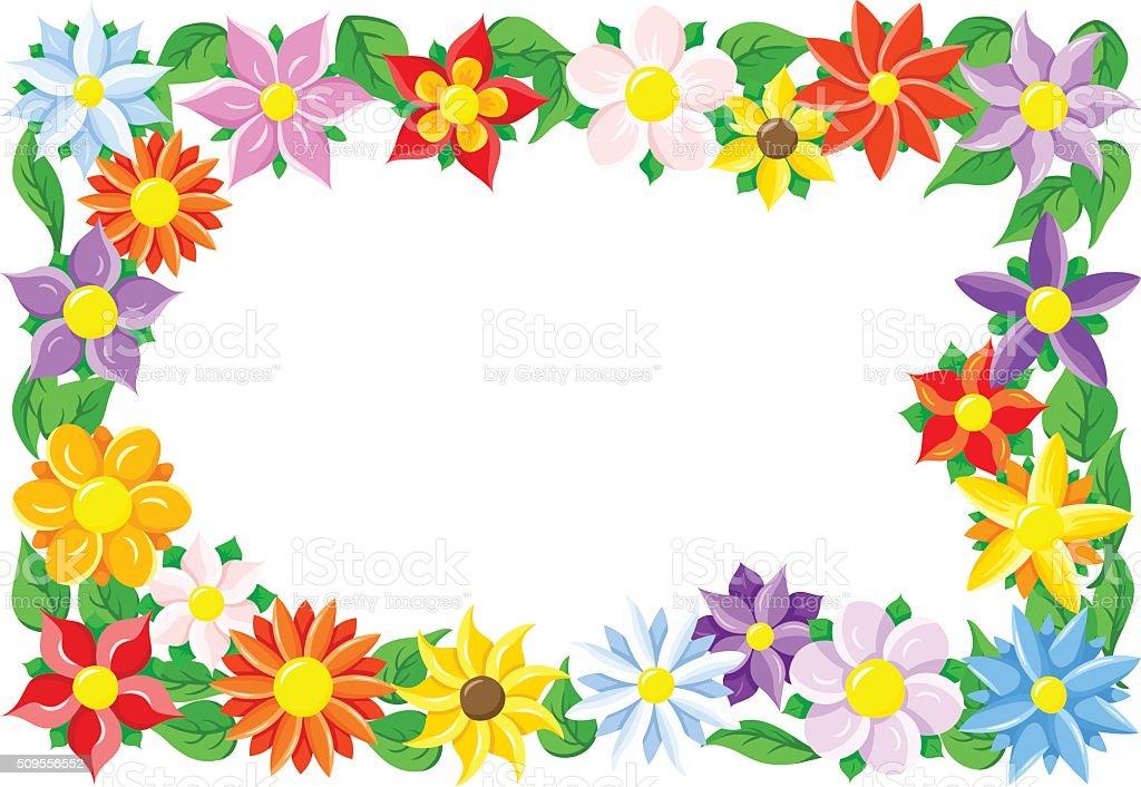 Flower Border Stock Vector Art Amp More Images Of
