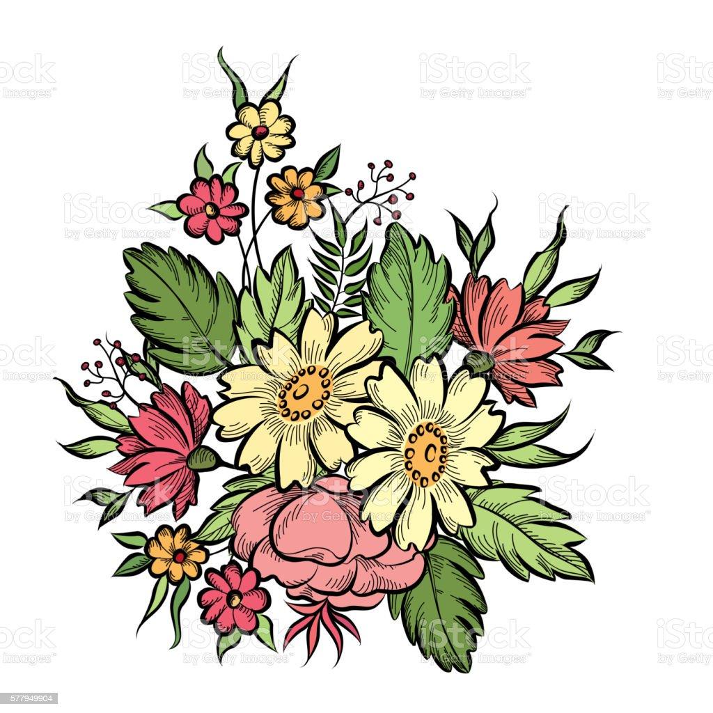 Flower bouquet background floral frame flourish greeting card stock flower bouquet background floral frame flourish greeting card royalty free flower bouquet izmirmasajfo