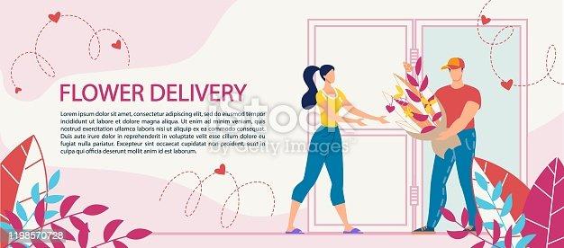 Flower Bouquet Delivery Service Advertisement