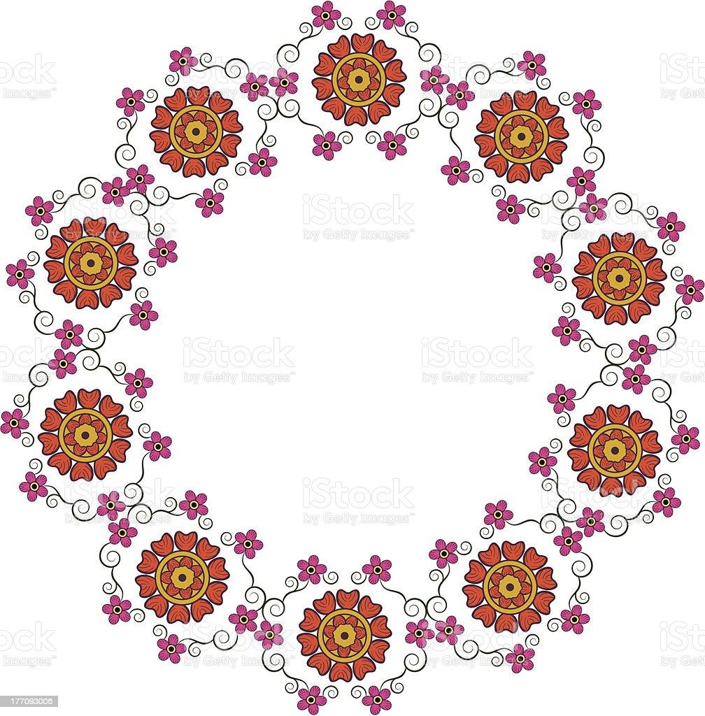 Círculo Marco Flor - Arte vectorial de stock y más imágenes de ...