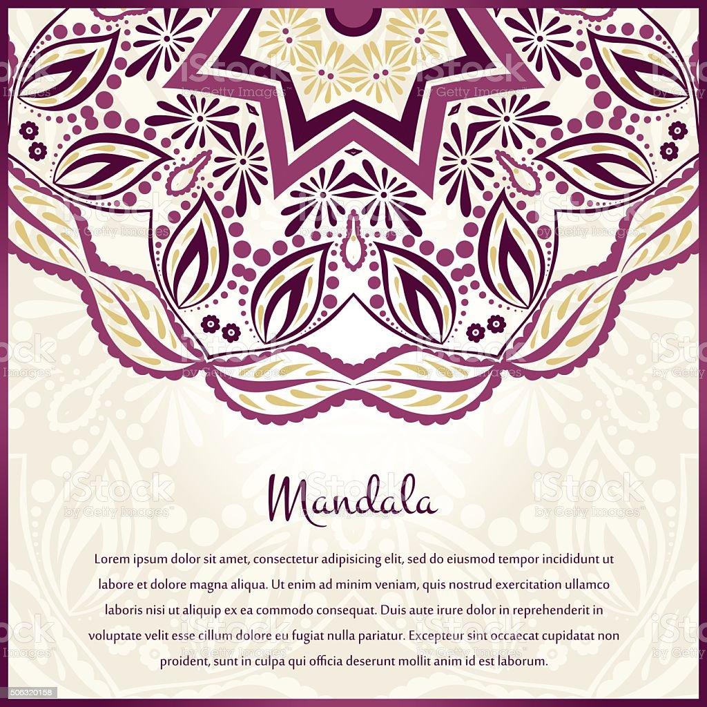 Fleur Fond De Forme Circulaire Un Dessin Raffiné Mandala Vin De