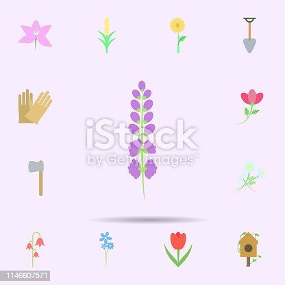 Flower colored icon. Universal set of nature for website design and development, app development on color background