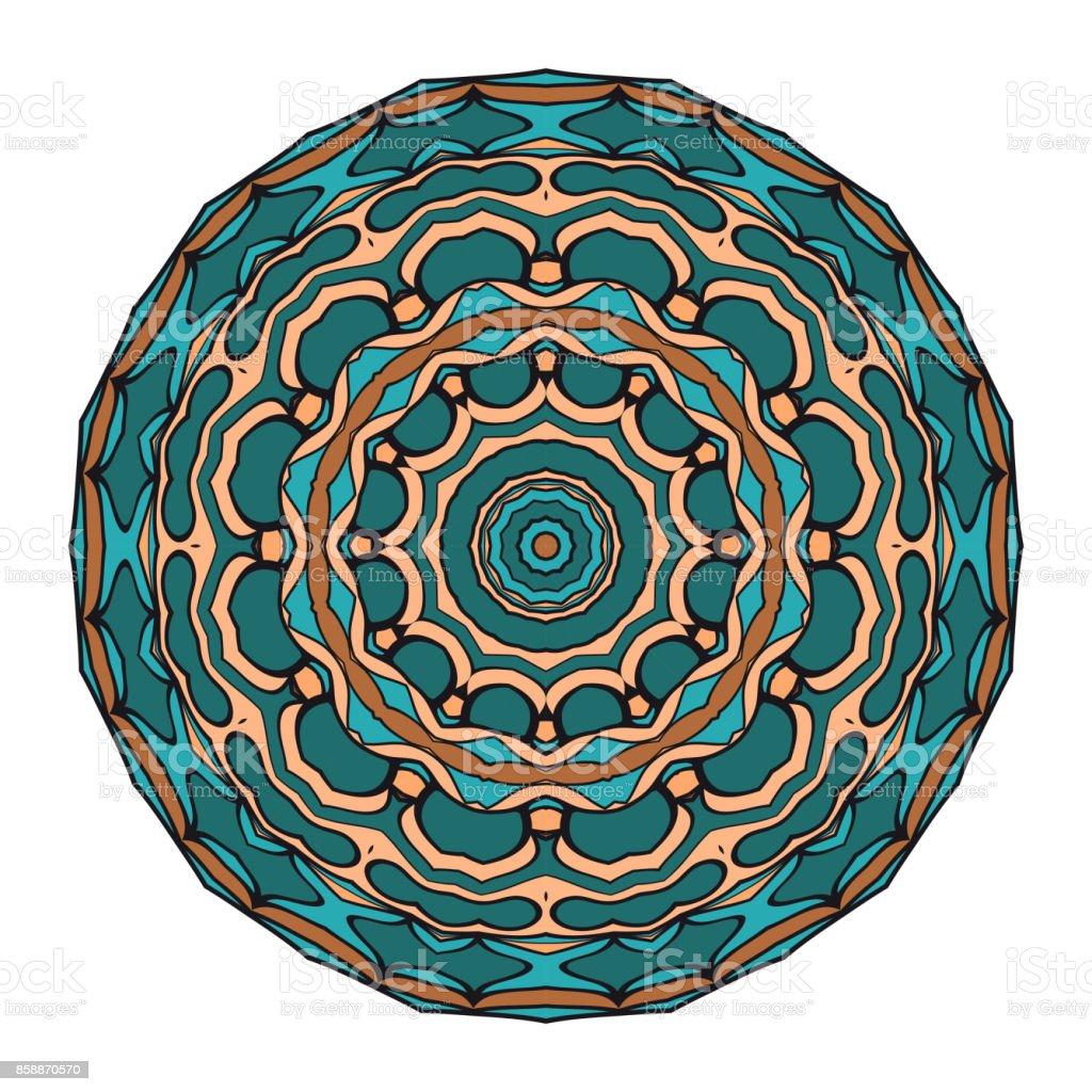 Blume Mandala Malvorlagen Dekorative Elemente Orientalische Muster ...