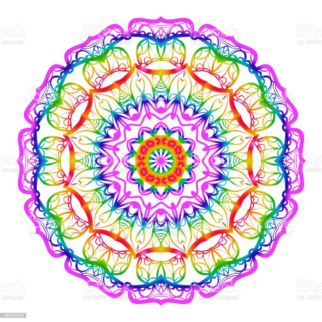 Coloriage Mandala Rond.Fleur Coloriage Mandala Elements Decoratifs Modernes Oriental Rond
