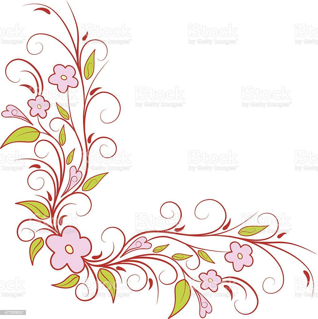 flower corner design stock vector art amp more images of