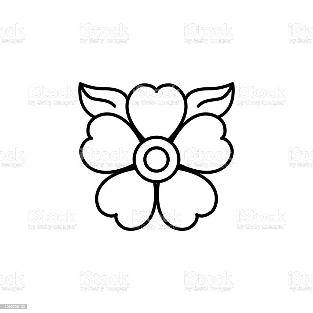Ilustración de Flor Día Del Icono Muerto Elemento Del Día De Que Los ...