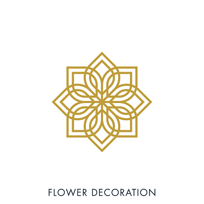Flower Decoration Vector Stock Illustration Design Template. Vector eps 10.