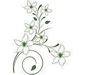 flower decorative elementhd design