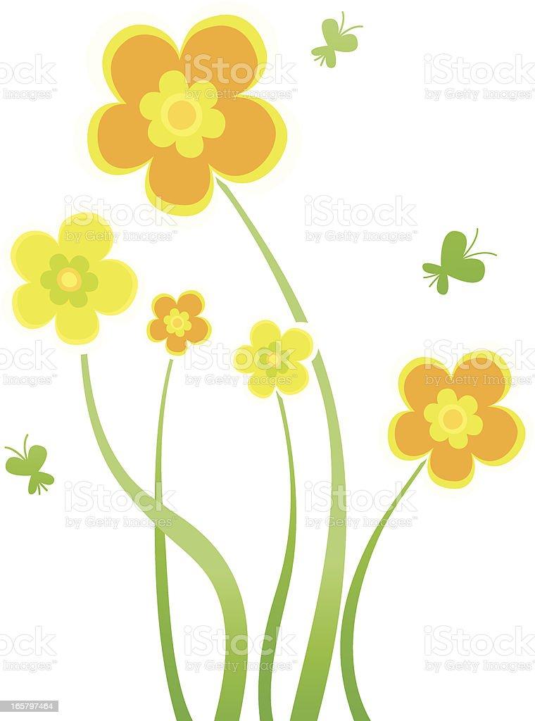 flower design elements illustration royalty-free stock vector art