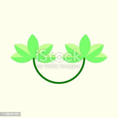istock Flower design icon 1138331331