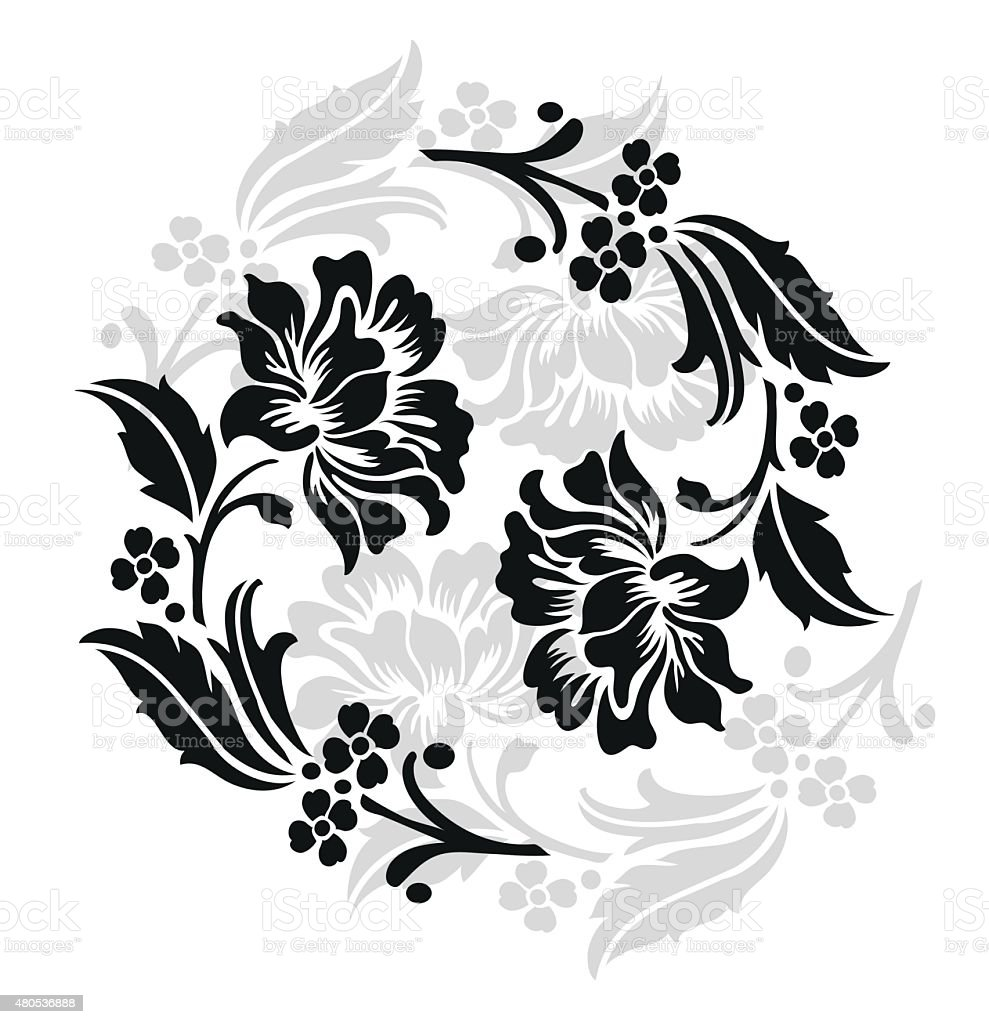 flower design sketch for patternlace edgeflower motif stock vector art more images of 2015. Black Bedroom Furniture Sets. Home Design Ideas