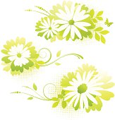 Flower designs green
