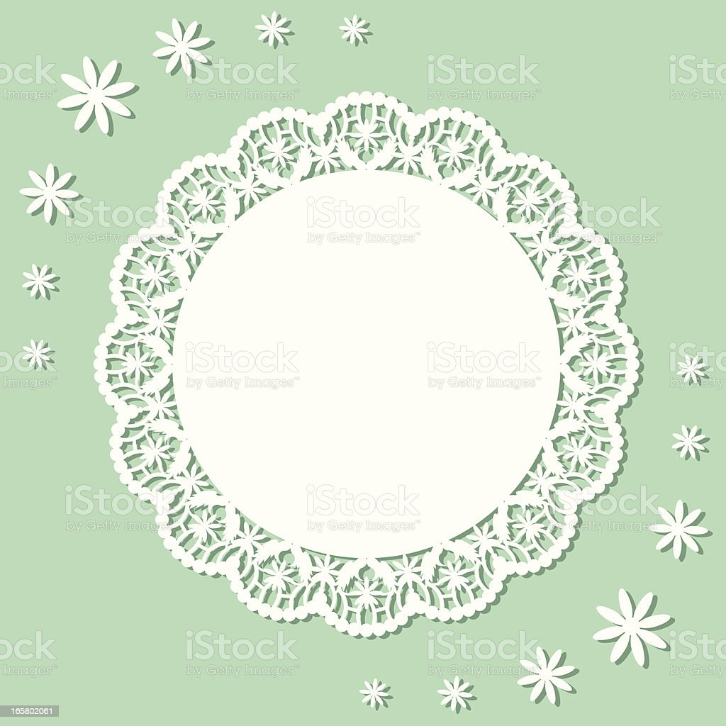 Flower Doily vector art illustration