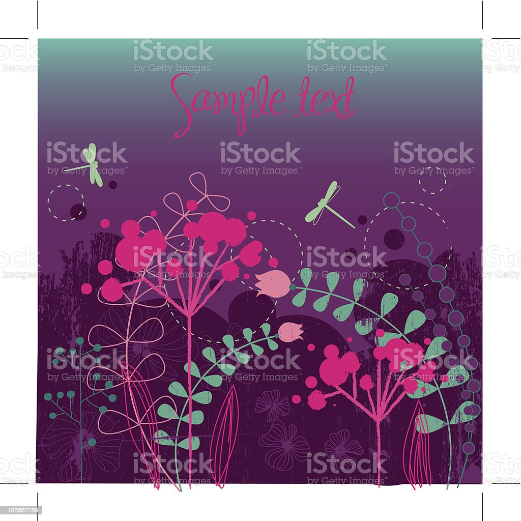 Flower Doodle royalty-free stock vector art