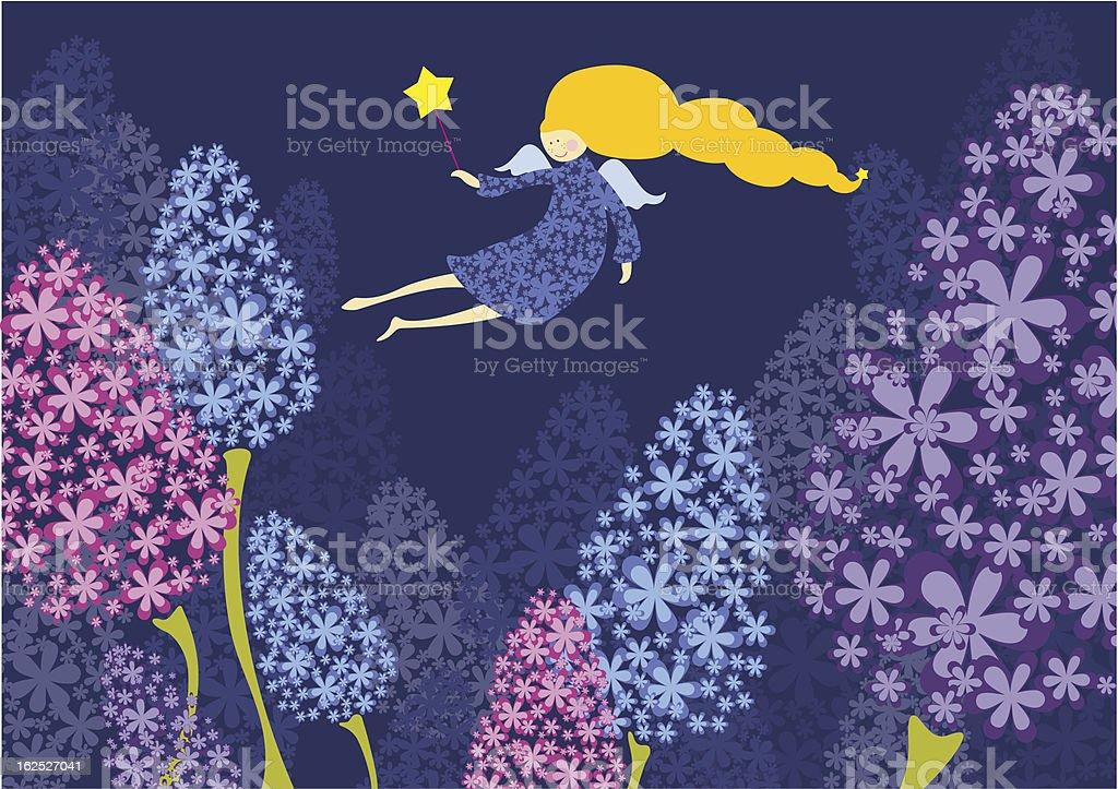 Flower fairy royalty-free stock vector art