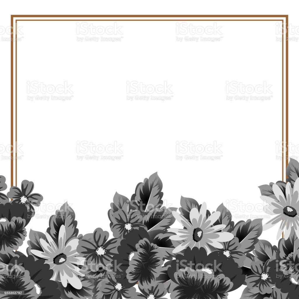 Marco De Flores Para Tus Diseños Tarjetas De Felicitación Tarjetas ...