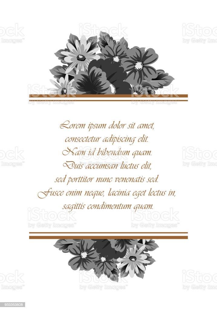 Ilustración de Marco De Flores Para Tus Diseños Tarjetas De ...