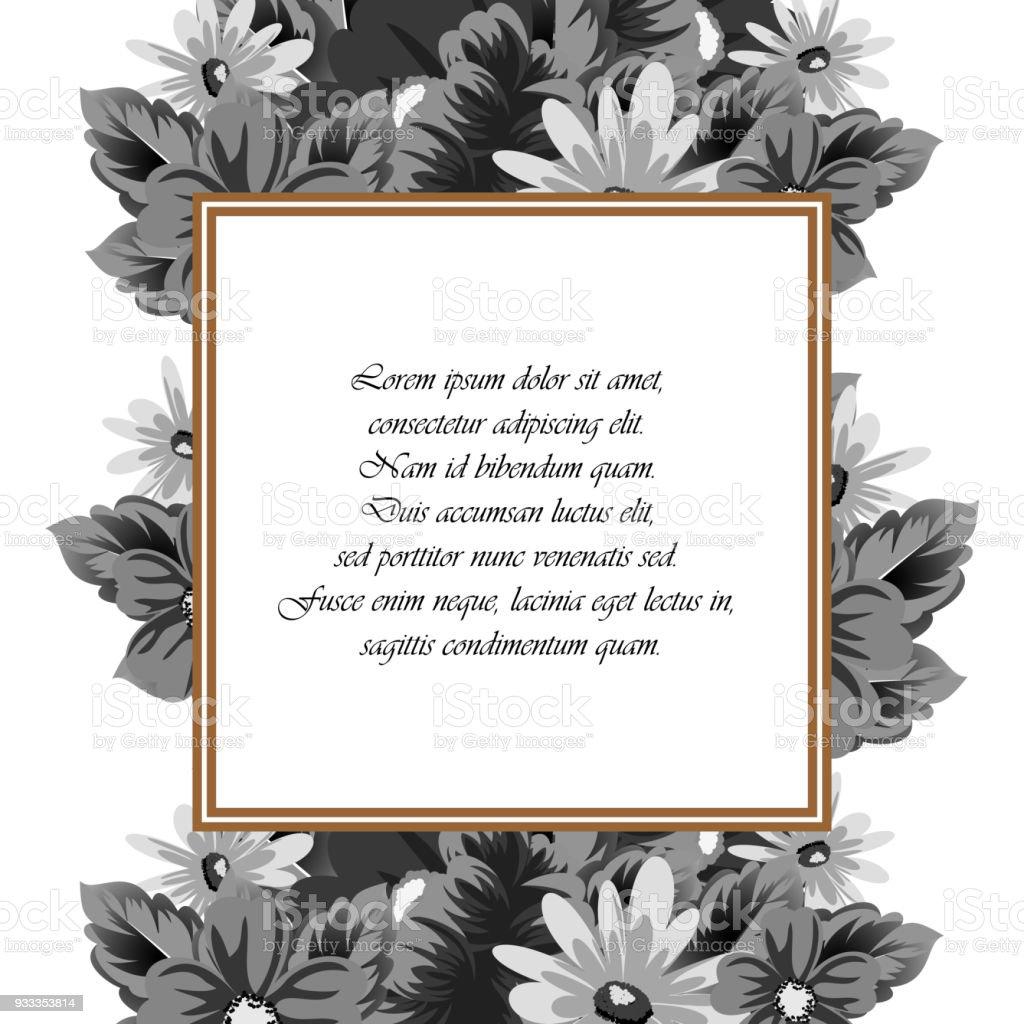 Ilustración De Marco De Flores Para Tus Diseños Tarjetas De